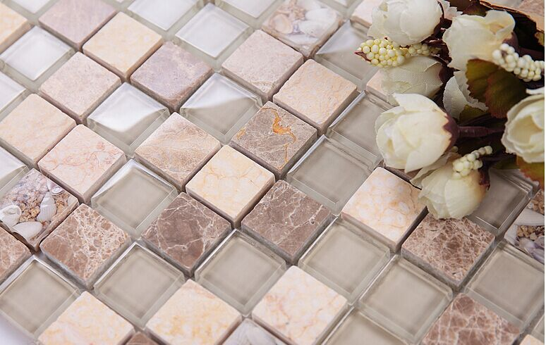 Shell Mosaic Mother Of Pearl Natural Marble Glass Kitchen Backsplash Wallpaper Tile Shower Countertop Home Diy