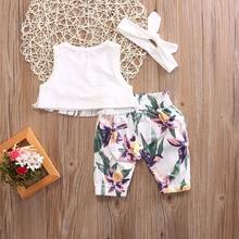 Cute Newborn Baby Girl Sleeveless Clothing Set