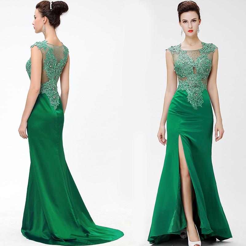 emerald green formal dress - Dress Yp