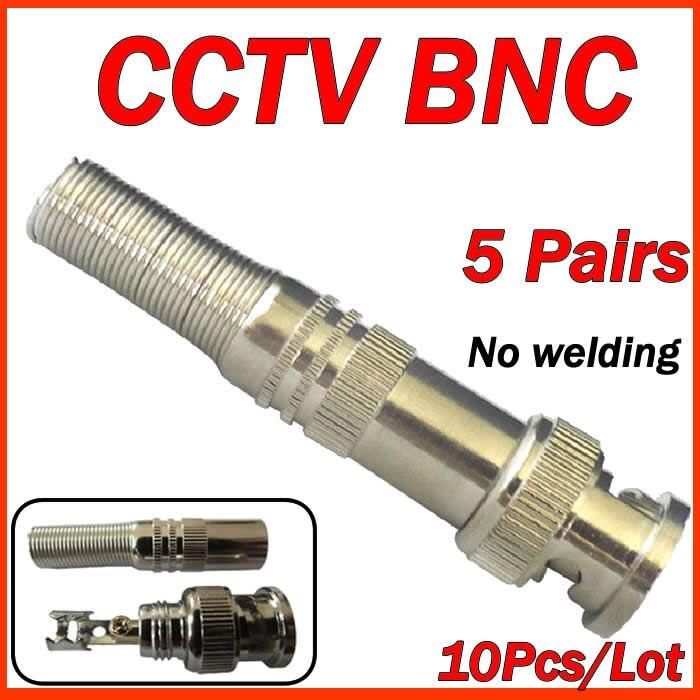CCTV accessories10 pcs RG-59 BNC Male Connector to Coaxial Cable BNC for the cctv camera free shipping керамическая плитка dune nova