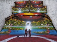 Romantic Lover Oil Painting Bedding Set Comforters Bedspreads Quilt/Duvet Cover Single Twin Full Queen Super King Size Bed Adult