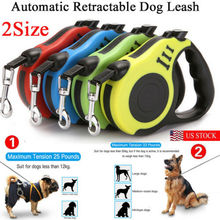 3Mor5M Dog Traction Belt Lead Extending Rope Retractable Pet Walking Leash Collar