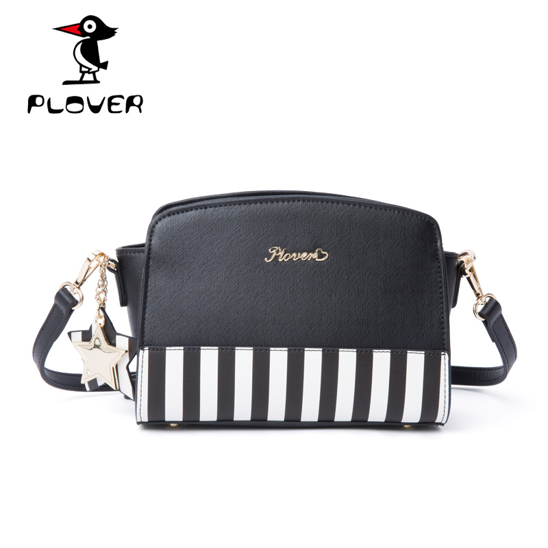 ФОТО PLOVER Women Crossbody Bags Fashion Striped Channels Handbags Ladies Leather Bags Famous Brands Luxury Women Shoulder Bags Small