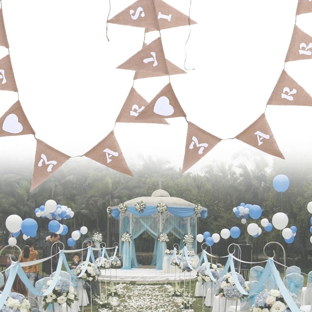 Mariage Bunting Bannière Guirlande fête de Hesse jute mariage mariée Fiancée Fête