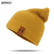2018 Winter Hats for Woman HipHop Knitted Hat Women's Warm Slouchy Cap Crochet Ski Beanie Hat Female Soft Baggy Skullies Beanies(China)