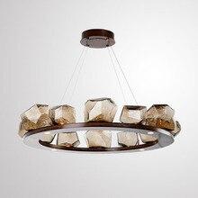 цена Postmodern LED Glass pendant lamps living room suspended lighting Novelty home deco fixtures bedroom hanging lights Nordic style онлайн в 2017 году