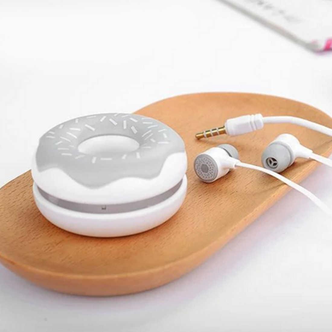 น่ารักโดนัท Macarons หูฟัง 3.5 มิลลิเมตรหูฟังสเตอริโอหูฟังพร้อมหูฟัง mic สำหรับ iPhone Xiaomi Girls สำหรับ MP3 ของขวัญ