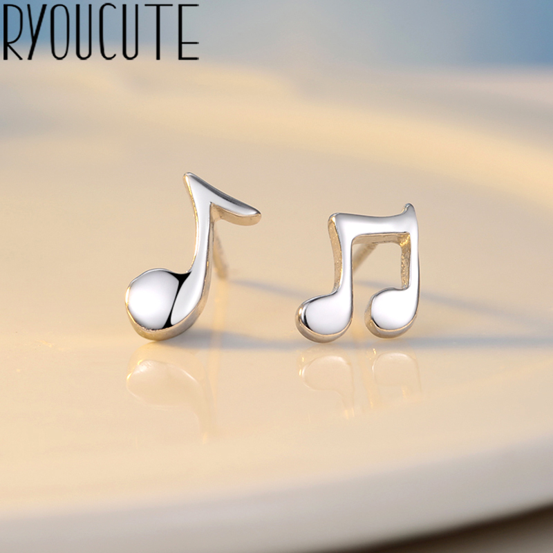 Trendy Silver Color  Music Sign Earrings For Women Wedding Ladies Earrings Statement Jewelry Female Party Gift Brincos