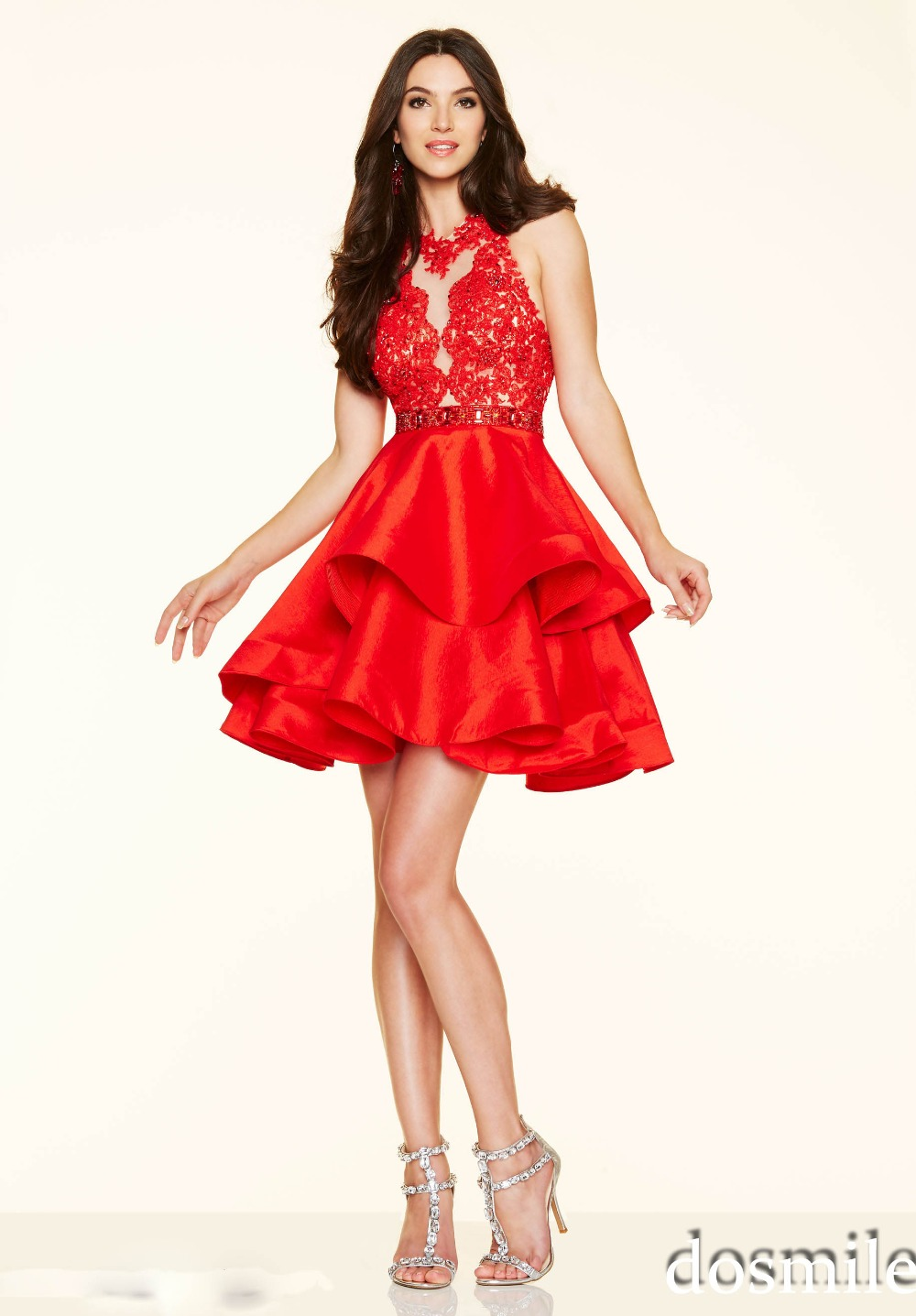 2016 sweet 16 elegant cocktail dresses blue red pink beading A line mini  short homecoming gowns 8th grade semi formal dress-in Cocktail Dresses from  ... bf30829fc60a