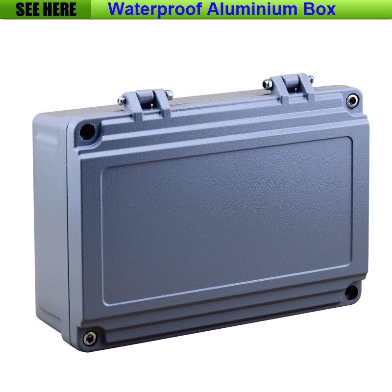 Livraison gratuite 1 pièce/lot Top qualité 100% matériau en Aluminium étanche IP66 Standard conception de boîte en aluminium 220*155*95mm