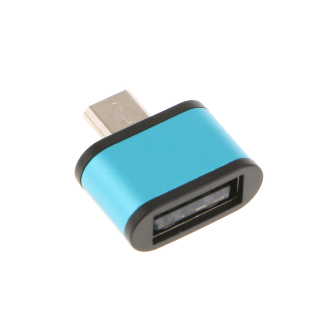 Dovewill USB 2.0 Micro USB Male to USB Female Host OTG Adapter for Android Blue