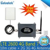 무료 배송 2600Mhz 4G (FDD Band 7) 휴대 전화 신호 중계기 65dB LTE 4G 셀룰러 모바일 신호 부스터 증폭기 4G 안테나