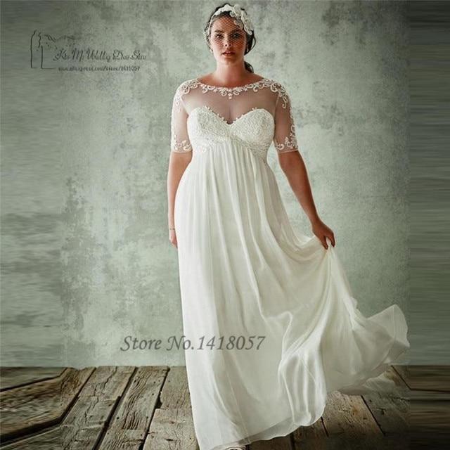 cf8b632f6b Vestido de Noiva 2017 Cheap Maternity Wedding Dresses Plus Size Empire  Bride Dress for Pregnant Women Chiffon Lace Wedding Gowns