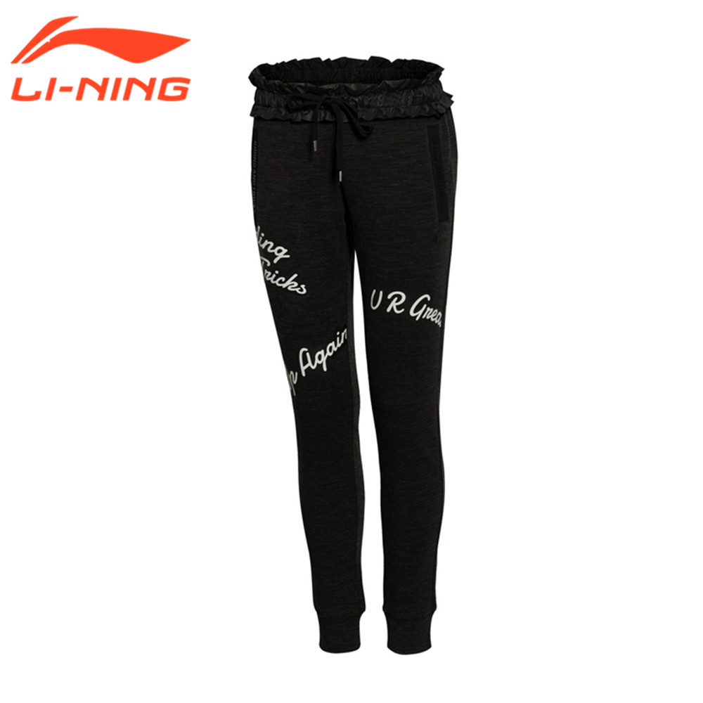 Li-Ning Women Running Hiking Pants Female Sport Pants Plus Size Women Leisure Pants Famininos S~XL LKLL022-1 LiNing