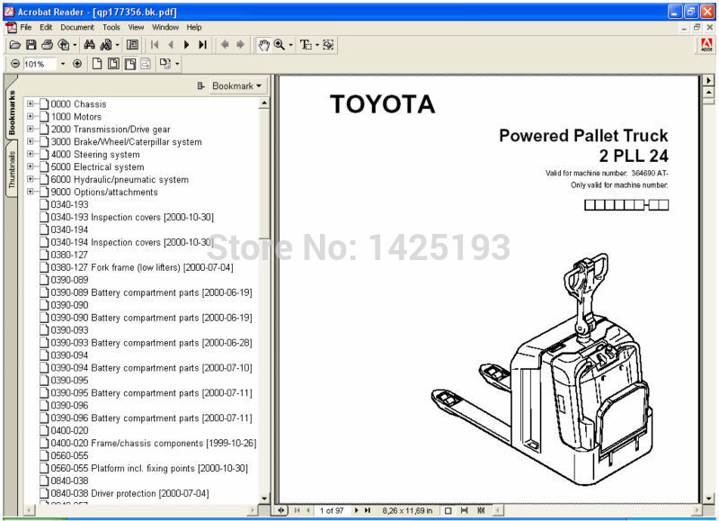 Bt Forklift Parts Catalog For Toyota In Software From