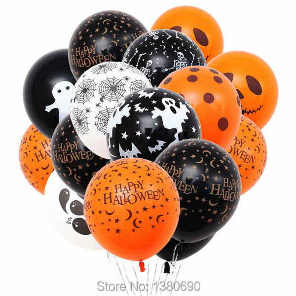 100pcsl 12 inch happy halloween latex balloons hallows party decoration kids cheap latex balloons