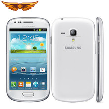 I8190 Asli Unlocked Samsung GALAXY SIII Mini I8190 5MP RAM 1 GB + Rom 8 GB 4.0 Inci Ponsel Android OS GPS WIFI Ponsel Pintar(China)