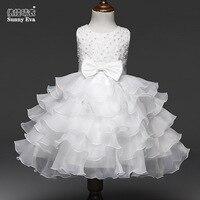 Sunny Eva 4colours Party Girl Dress Children Costume Princess Wedding Dresses For Girls Children Dress
