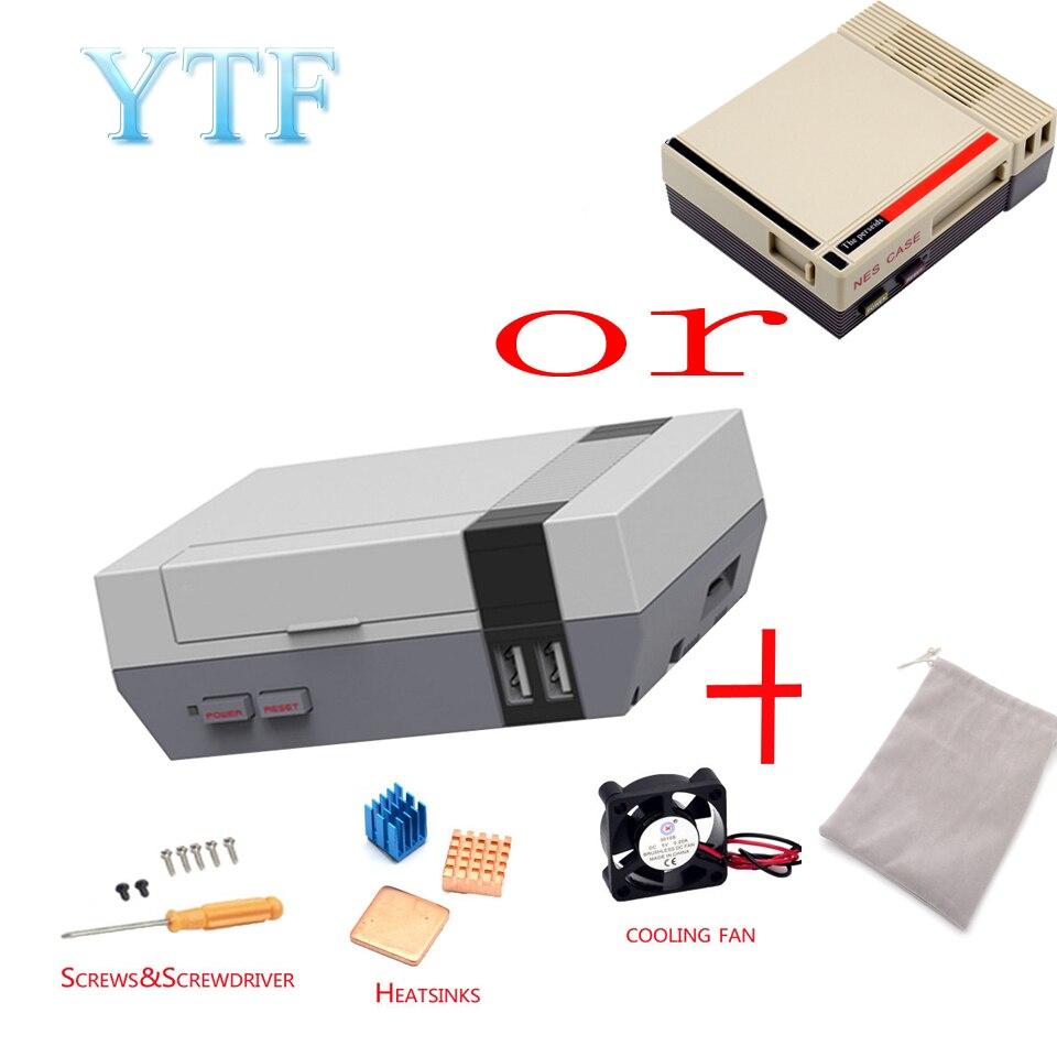 1set High Quality Mini NES NESPI CASE Retroflag Case With Cooling Fan Designed For Raspberry Pi 4/3 / 2 / B+
