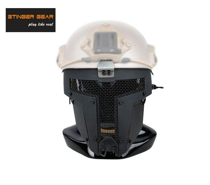Prix pour Stinger Vitesse SPT Airsoft Mesh Full Face Mask Rapide Casque Masque Noir + Livraison gratuite (STG050887)