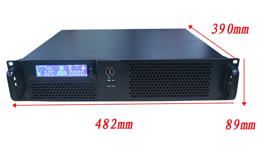 2U390 short chassis 2U industrial control server firewall computer case installed PC power supply 390 deep with Display screen