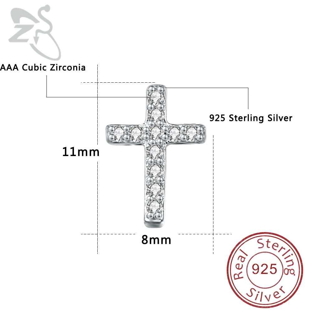 Кристалл крест уха шпильки для пирсинга спираль Tragus 925 пробы серебряные серьги-гвоздики Крест Иисуса серьги серебро 925 Brincos Ювелирные Изделия