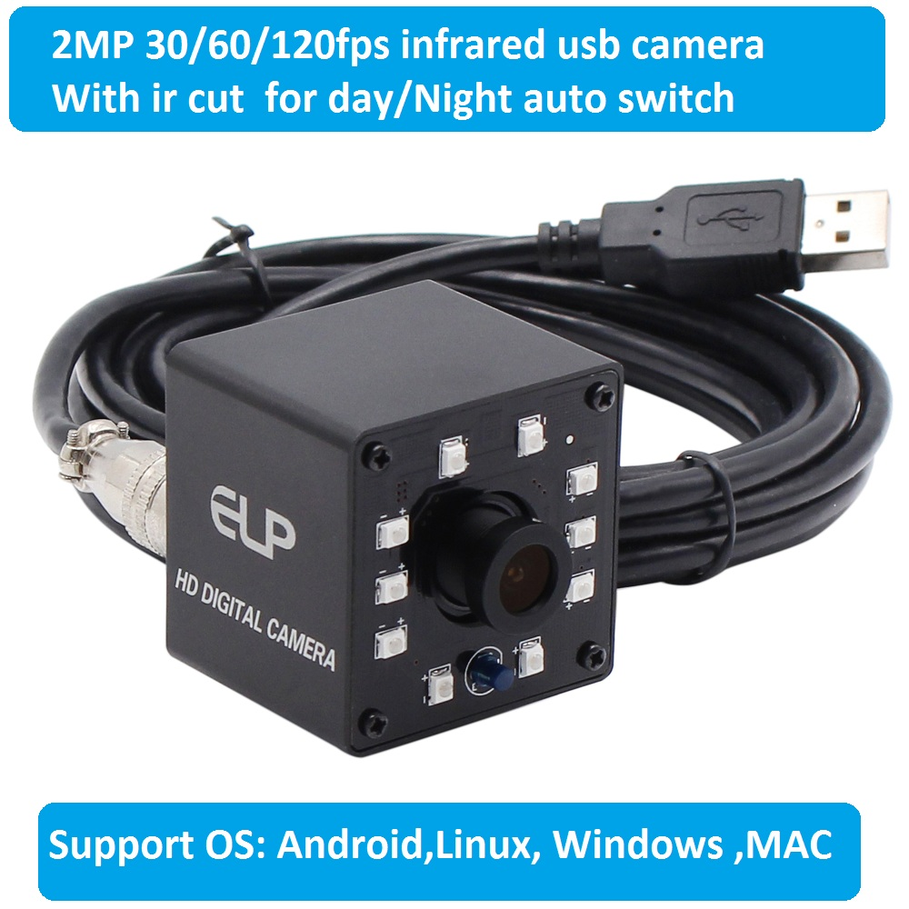 1080 p OV2710 Web cam hd CCTV Caméra de Surveillance mini infrarouge de Vision Nocturne USB Webcam hd 1080 p avec IR CUT et 10 pcs led Conseil