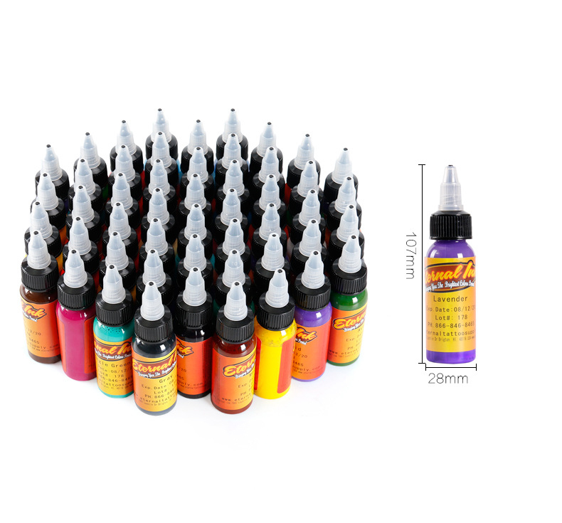 50 Colori Tattoo Ink Set 1 oz 30 ml/Bottle Tattoo inchiostri pigmento Kit per Tatoo trucco di bellezza della pelle body art Permanente trucco