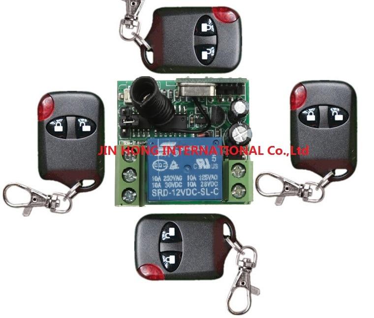 DC12V 1ch Беспроводной дистанционного управления Системы для доступа/двери Системы 315/433. 92 мГц @ 1 x приемник и 4 * кошачий глаз передатчики