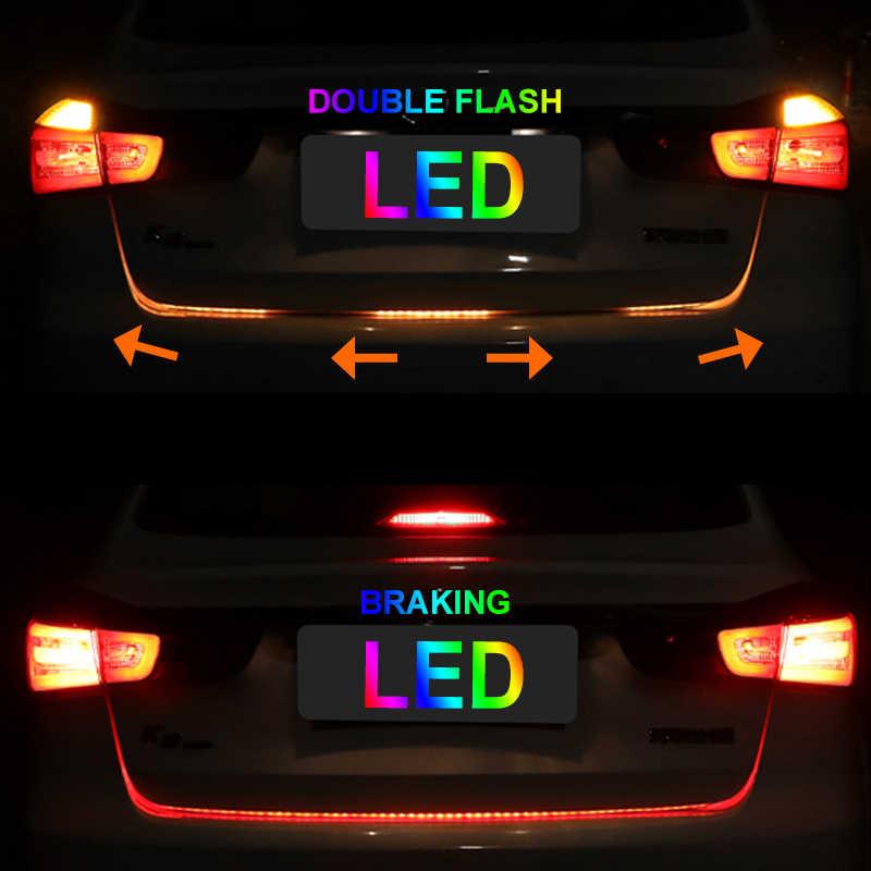 OKEEN автомобильный Стайлинг светодиодный багажник полосы света RGB ходовой плавающий светодиодный Динамический указатель поворота стример багажный отсек огни
