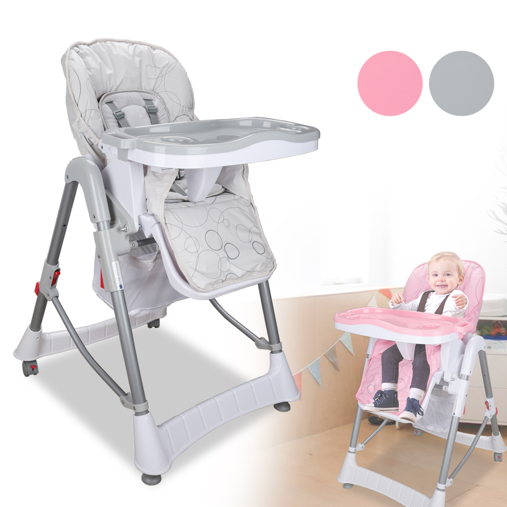 Height Adjustable High Chair Baby Hanging Ireland Safe Child Feeding Waterproof Comfortable Cushion European Safety Stand
