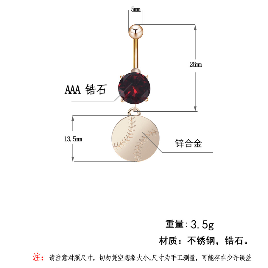 Us 2 88 40 Off Fitness Baseball Shape Stainless Steel Belly Button Ring Body Piercing Jewelry Rings Dangle Navel Nail Sexy Women Body Jewelry In