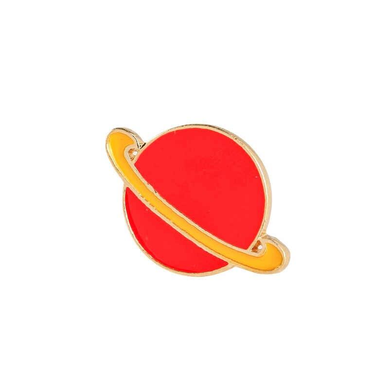 Бренд Мультяшные Броши Модные Милые Метеор Alien телескоп дирижабль ракета красный планета, звезда украшение с Луной, булавки, ювелирное изделие для девочек подарок