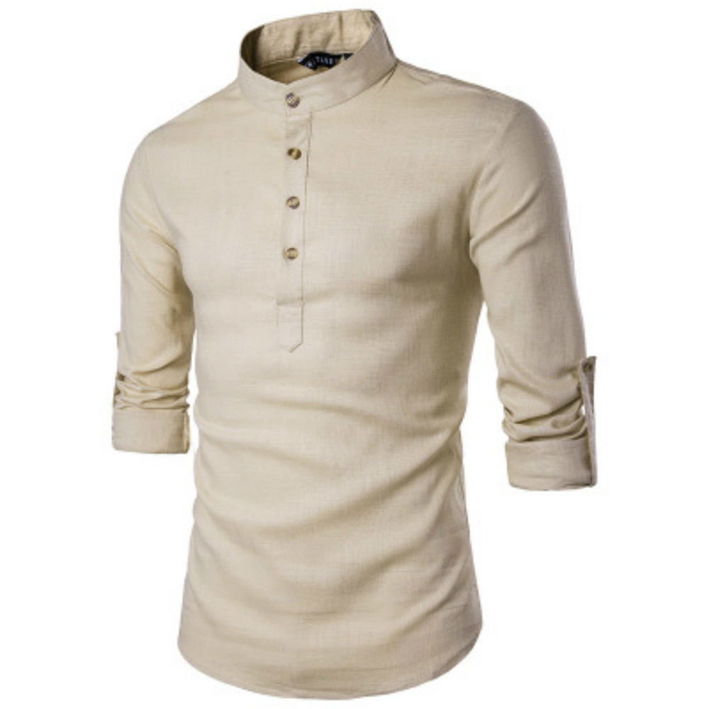 ZOGAA 2019 Hot New Autumn Men's Shirt Slim Large Size Men's Business Casual Long-sleeved Shirt Men's Clothing Men Fashion Shirt