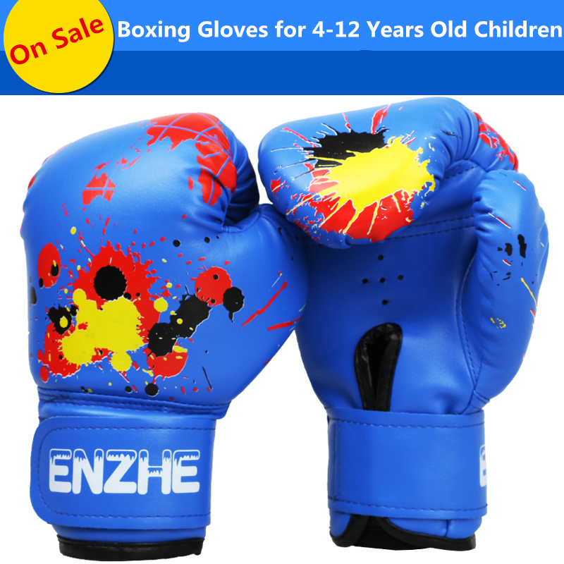 Children Gloves Boxing Fight Training Boys Girls Kid Kick Muay Durable Useful