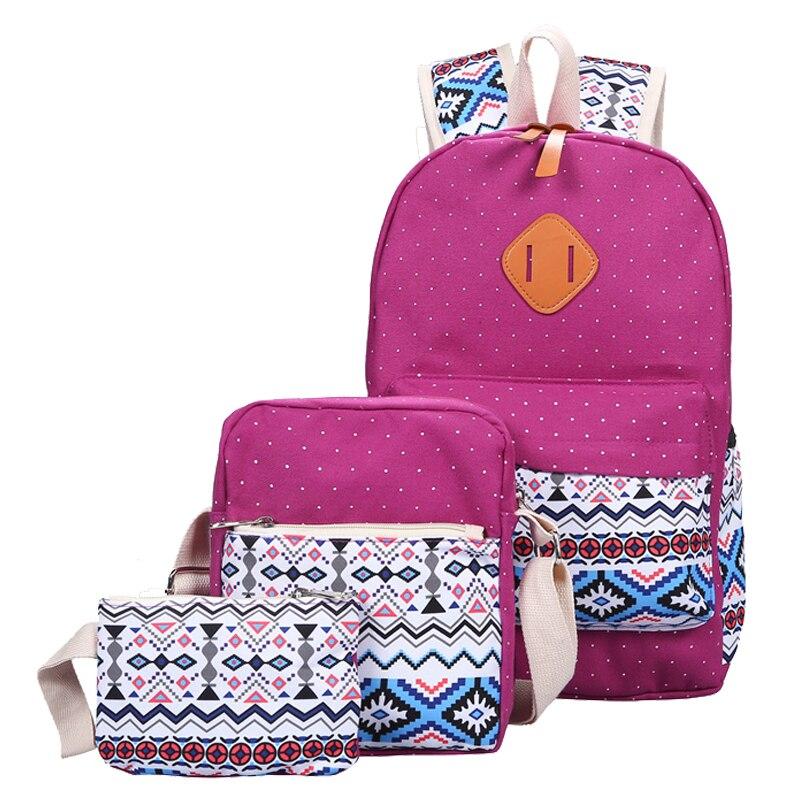 dos mochila bookbolsa mochila conjunto Main Material : Canvas Printing Backpack Conjunto