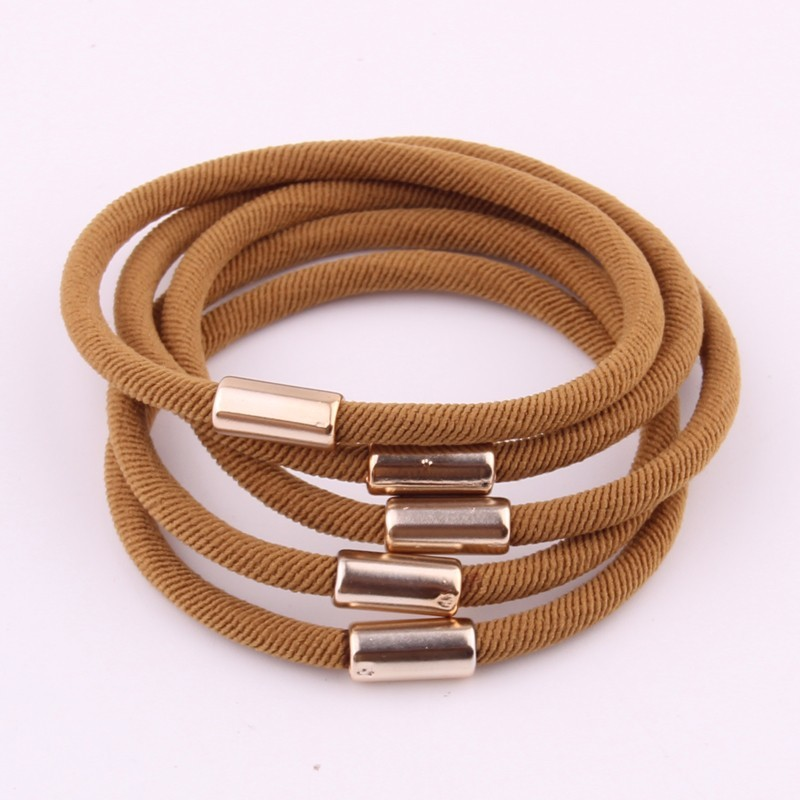 5 PCS High Elasticity Hair Gums For Women Soft Solid Hair Rings Pony Tail Thread Type Hair Tie Elastic rubber Bands Loops access in Women 39 s Hair Accessories from Apparel Accessories