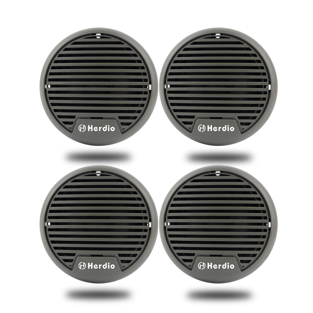 цена на 2 Pairs 3 Inch Waterproof Marine Speakers Motorcycle Boat Audio Stereo System For ATV UTV ATV Golf Cart SPA Outdoor Motorcycle
