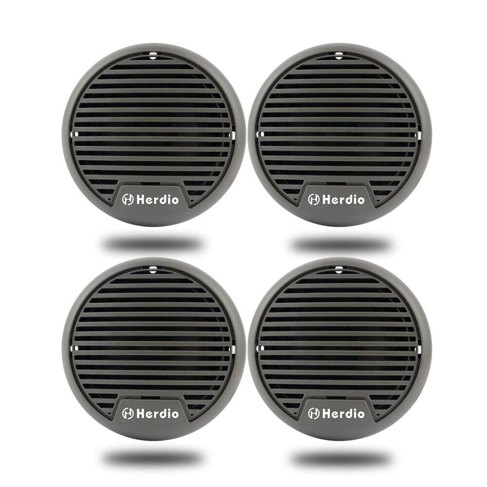 2 Pairs Waterproof Marine Speakers Motorcycle Boat Audio Stereo System 3'' UTV ATV Golf Cart SPA Outdoor/Indoor Music Speakers