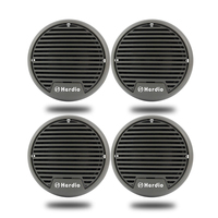 2 Pairs Waterproof Marine Speakers Motorcycle Boat Audio Stereo System 3 UTV ATV Golf Cart SPA