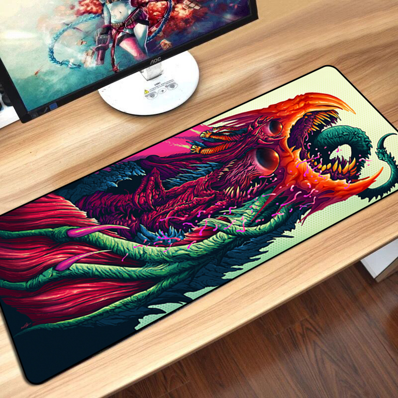Large Gaming Mouse Pad Mat for CS GO Hyper Beast AWP Boyfriend Gifts Gamer Big Computer Mousepad Game for Csgo Muismat 80*30 cm свитшот print bar cs go hyper beast black style