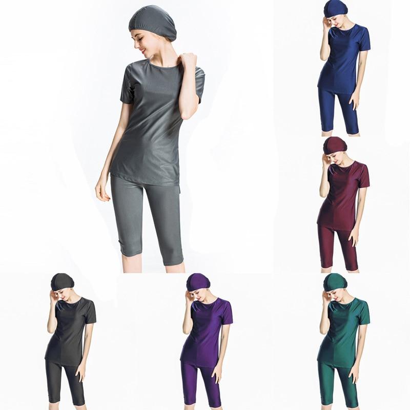 Plus Size S-4XL Burkinis Islamic Swimwear Women Girls Muslim Hijab Modest Islamic Swimming Suits Bathing Muslim Swimwear Islam