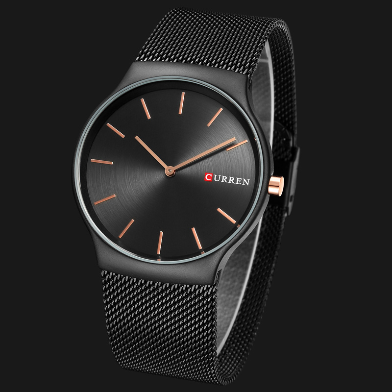 CURREN Brand Luxury Mens Quartz Watch Men Waterproof Ultra Thin Analog Clock Male Fashion Sports Watches Black relogio masculino