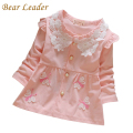 Bear Leader Infant Baby Girls Autumn Dress 2016 New Casual Princess Dress for Kids Dress Butterfly Appliques Design Baby Clothes