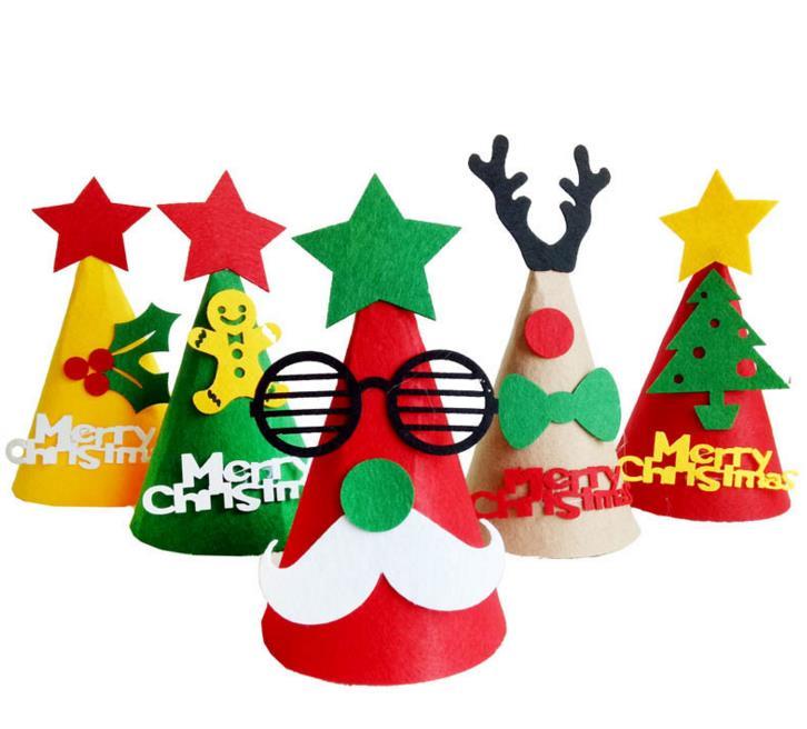 Christmas Tree Hats: DIY Christmas Cap Party Decoration Handmade Favor