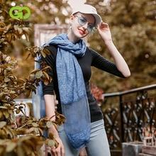 GOPLUS 2019 Spring Winter Thin Chiffon Long Scarf Women solid Patchwork luxury shawls hijab Vintage silk scarves Female bandanna