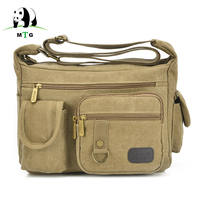 MTG Brand Vintage Men Women Bags Casual Canvas Male Crossbody Bags Strap Small Handbags Men Travel