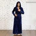 Los hombres y Las Mujeres Unisex Amantes de Invierno de Larga Duración Extra Grueso de Franela Con Capucha Pijamas Batas Albornoz Lounge Wear Ropa de Dormir