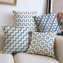 45*45 см с принтом с геометрическими линиями наволочки для подушек