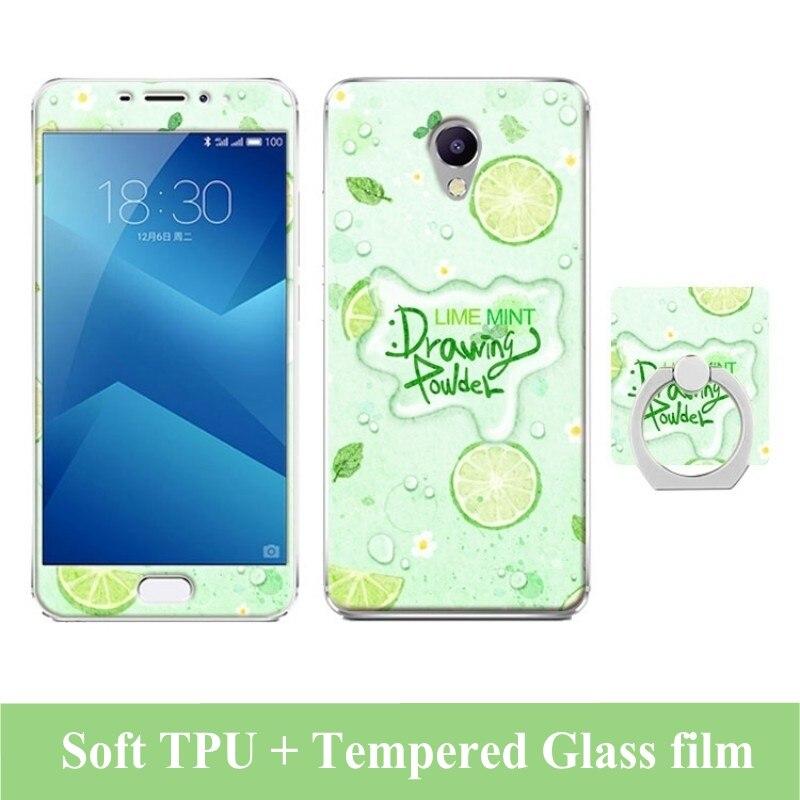 Estuche de dibujos animados 3D para Meizu M5 Note Película de vidrio - Accesorios y repuestos para celulares - foto 4
